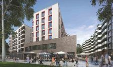 So sieht es aus: Das neue Innside by Meliá im Frankfurter Ostend