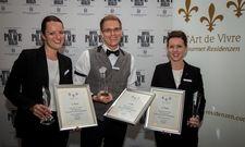 Das Sieger-Trio: (von links) Tanja Fried (2. Platz), Urs Gnotke (1. Platz) und Janina Kraft (3. Platz)