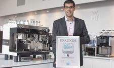 Stolz: Florian Lehmann, ist bei WMF für das globale Geschäft mit Kaffeemaschinen verantwortlich.