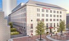 So soll's aussehen: Ein Rendering des geplanten neuen Intercity Hotels in Dortmund