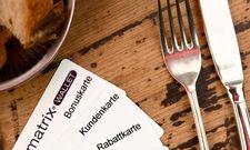 Neu bei der 42 GmbH: Die aufladbare Karte Matrix Wallet soll Kunden ans Restaurant binden