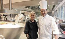 Ganz oben in Europa: Küchenchef Franck Giovannini mit Gastgeberin Brigitte Violier
