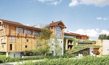 Natur trifft Design: Die Fassade der Werdenfelserei besteht komplett aus Holz.