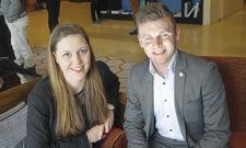 Schätzen den Karrieretag: Die Nachwuchstalente Katharina Blaschke und Gerrit Gehrke.