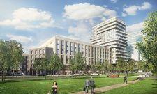 So soll es aussehen: Das neue Courtyard by Marriott Hamburg City im Stadtteil St. Georg