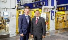 Optimismus bei Blanco Professional: Michael Huber, technischer Geschäftsführer und Roland Spleiss, Vorsitzender der Geschäftsführung