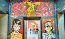 Ungewöhnliches Design: Das Foyer im Nyx Hotel Prag