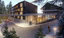 Soll soll es einmal aussehen: Ein gläserner Check-in und ein moderner 49-Zimmer-Neubau sind Teil des Hotels Fritz Lauterbad in Freudenstadt