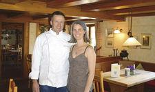 Aus Überzeugung Gastgeber: Die Eigentümer Nicole und Andreas Humburg, Landgasthof Adler in Vogt. Die Gemeinde liegt zwischen Leutkirch und Ravensburg.
