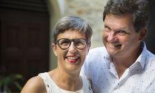 Wirte, Winzer und Hoteliers: Eva Pfaff-Düker und Ralph Düker bauen einen der besten Rieslinge der Welt in Volkach am Main an.