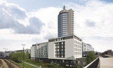 So soll es aussehen: Das Gebäude mit den zwei Hilton-Hotels.