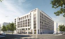 Eines von 26 neuen Hotels am Main: Das Hyatt Place öffnet 2018 mit 312 Hotelzimmern in Gateway Gardens.