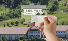 Hier entsteht der Neubau: Die Villa Nova in der Simulation