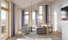 Upstalsboom auf Föhr: Alle 23 Suiten und viele Comfort-Zimmer bieten Meerblick