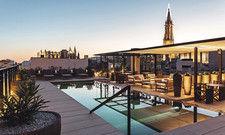 Die Trumpfkarte des Sant Francesc Hotel Singular: Die Terrasse mit Blick auf die historische Altstadt von Palma.