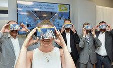 Per Reality-Brille in den Veranstaltungsraum: Ein faltbarer Linsen-Träger macht das für potenzielle Kongressausrichter möglich.