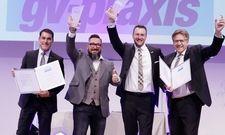 Preisträger des Frankfurter Preises 2017: (von links) Stefan Vilsmeier, Stefan Köglmeier, Stefan Lehmann und Günther Lehmann