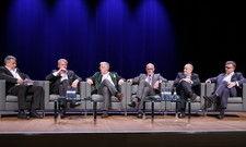 Redeten keine Krise herbei: (von links) Rolf Westermann, Thomas Edelkamp, Roland Zadra, Peter Tschirky, Dirk Schuldes und Karl Brüggemann