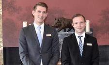 Neu im Kempinski: Restaurant Supervisor Nick Andreas und Restaurant Manager Andreas Wetendorf (r.).