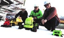 Startschuss für die Bauarbeiten: Eigentümer Ernst Mayer (rechts), Hoteldirektor Volker Küchler (Mitte), Architekt Martin Zint