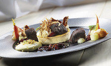 Bester Snack: Warmes Zwischengericht mit Blutwurst, Kartoffel, Karotte, Apfel und Zwiebel von David Gombert.