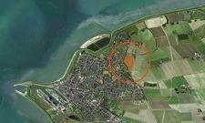Büsum aus der Vogelperspektive: Hier soll ein neues Ferien-Resort entstehen