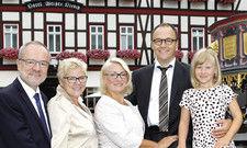 Hoteliersfamilie: (von links) Jörg, Monika, Doreen und Christian sowie Tochter Joyce Wieland.