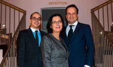 Haben Grund zur Freude: Camino-Geschäftsführer Peter Leidig, Eigentümerin Renate Wimmer und Arcotel-CEO Martin Lachout.
