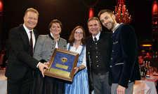 Strahlender Gewinner: Das Team vom Wirtshaus in der Au in München erhielt zum fünften Mal einen Stern der Gastlichkeit – mit einer besonders hohen Punktzahl