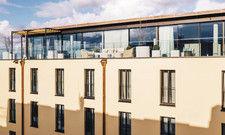 Alles vom Feinsten: Die Penthouse Garden Suite ist die größte Suite in München.