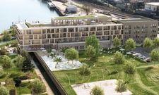 So soll's aussehen: Eine Visualisierung des geplanten Hotels Papa Rhein
