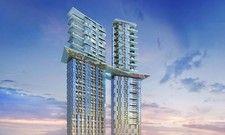 Hoch, höher, Hotel: In Dubai findet regelrecht ein Wettlauf in die Höhe statt. Hier zu sehen: Das geplante Raffles.