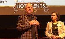 """Eröffnung des Kongress """"Hotalents"""": Klaus Michael Schindlmeier, Geschäftsführer Best Western Plus Palatin Kongresshotel in Wiesloch mit Projektleiterin Lisa Aenis"""
