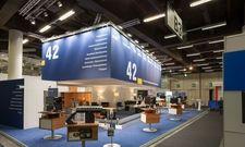 Geballte IT-Kompetenz: Hier präsentiert sich die 42 GmbH in Halle B3 EG