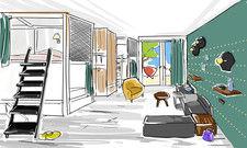 So oder so ähnlich wird es aussehen: Zimmer im Vienna House R.evo