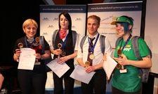Das Siegerteam (von links): Tinatin Suguladze, Kathrin Bierlenberg, Mirco Franzkowiak und Lisa Schulze,