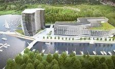 So soll's aussehen: Ein Entwurf des künftigen Maritim Hotel Stettin