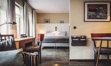 Behagliches Flair: Das Design der Zimmer ist eine Mischung aus Büroatmosphäre und einem wohnlichen 50er-Jahre-Look.