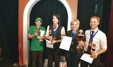 Die Sieger: (von links) Lisa Schulze, Kathrin Bierlenberg, Tinatin Surguladze und Mirco Franzkowiak.
