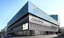 Das Gebäude von außen: Das Carathotel Düsseldorf-City befindet sich im Crown-Komplex