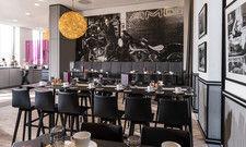 Thema Luftfahrt: Auch im Restaurant Blue finden sich die Designelemente, die das Hotel Norport Plaza fokussiert