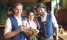 Verstehen sich: Die Geschwister Xaver, Theresa und Jakob Portenlänger (von links)