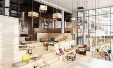 Gemütliche Sitzgelegenheit: Die große Freitreppe The Stairs im Arborea Marina Resort Neustadt
