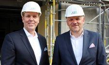 Baustellenbesichtigung in München: H-Hotels-CCO Andreas von Reitzenstein und CEO Alexander Fitz
