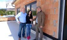 Bereiten das neue Dormero vor: Herr Littich, Architekt; Frau Faldon, Hotelmanagerin Dormero Hotel Passau und Martin Schlumprecht, Eigentümer