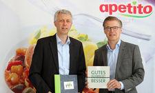 Blicken zufrieden auf das Jahr 2017 zurück: (von links) Geschäftsführer von Apetito Catering Andreas Oellerich und Guido Hildebrandt, Vorstandssprecher von Apetito