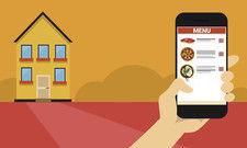 Mit dem Smartphone zum Wunschessen: Das ist für viele Tausend Nutzer von Lieferdiensten üblich.