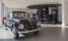 Ausstellung: Das Global Inn präsentiert im Wechsel Autos aus dem Volkswagenmuseum in der Lobby