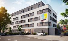 Von der Planung zum realen Objekt: Das erste Nintynine in Heidelberg nimmt Form an (Rendering)