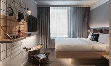 Stylisch und funktional: Das Moxy-Zimmer